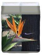 Tropical Garden Photo Of A Bird Of Paradise  Duvet Cover