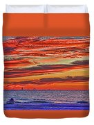 Tropical Gulf Nights Duvet Cover