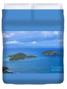 Tropical Islands In The Caribbean Sea Duvet Cover