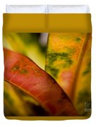Tropical Leaf Abstract Duvet Cover