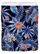Tropical Leaf Pattern 4 Duvet Cover