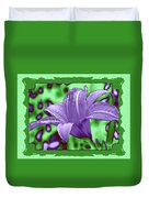 Tropical Lily 4 Duvet Cover