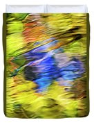 Tropical Mosaic Abstract Art Duvet Cover