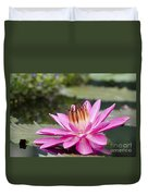 Tropical Night Flowering Water Lily Rose De Noche II Duvet Cover