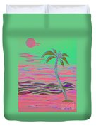 Hot Pink Coconut Palm Duvet Cover