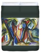 Tropical Palm Rhumba Duvet Cover