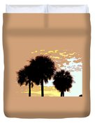 Tropical Palms Work Number Four Duvet Cover
