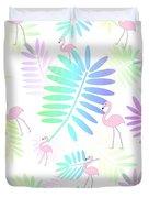 Tropical Pink Flamingos Duvet Cover