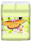 Tropical Queen Butterfly, Soldier Butterfly Duvet Cover