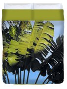 Tropical Sunlight And Shadow Duvet Cover