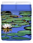 Tropical Water Lily Duvet Cover