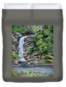 Tropical Waterfall 2 Duvet Cover