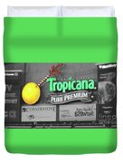 Tropicana Field Duvet Cover