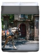Trotting Into The Past Duvet Cover