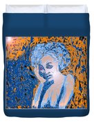 Troubled Woman Duvet Cover