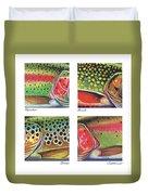 Trout Colors Duvet Cover