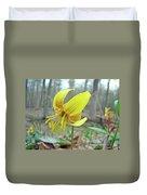 Trout Lily - Erythronium Americanum  Duvet Cover