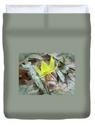 Trout Lily Wildflower - Erythronium Americanum Duvet Cover
