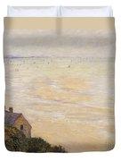 Trouville At Low Tide Duvet Cover by Claude Monet