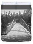 Trowbridge Falls Bridge Bw Duvet Cover