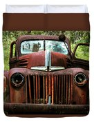 Truck In Medow Duvet Cover