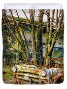 Truck N Tree Duvet Cover