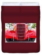 Truck Red Duvet Cover