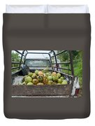Truckload Of Coconuts Duvet Cover