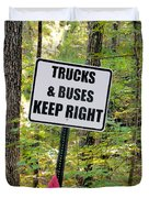 Trucks And Buses Keep Right Duvet Cover