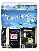 True Blue Bird Duvet Cover