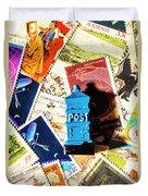True Blue Postbox Duvet Cover
