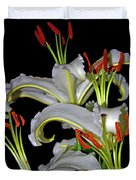 True Lilies Duvet Cover by Andy Za
