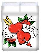 True Love Tattoo Duvet Cover