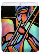 Trombonist Duvet Cover