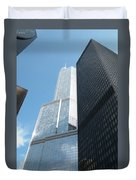 Trump Building From Other Side Duvet Cover