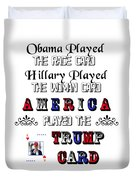 Trump Card Duvet Cover