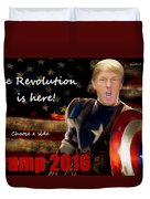 Trump Revolution Duvet Cover by Guy  Cannon