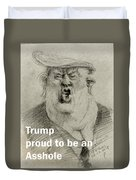 Trump The Imbecile Duvet Cover