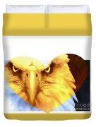 Trumped Gold On White Duvet Cover