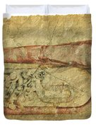 Trumpet In Grunge Style Duvet Cover