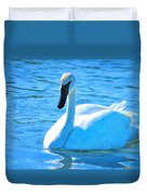 Trumpeter Swan Impressions Duvet Cover