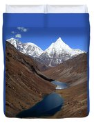 Tsho Phu Lakes And Jichu Drake Duvet Cover