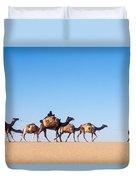 Tuareg Journey Across The Desert Duvet Cover