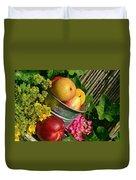 Tub Of Apples Duvet Cover