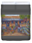 Tubac Pottery Shop Duvet Cover