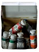 Tubes Of Artists Water Color Paints Duvet Cover