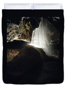 Tuckaleechee Cavern Waterfall Duvet Cover