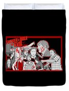 Tucker And Dale Vs. Evil Duvet Cover by Gary Niles