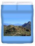 Tucson Mountain Ranges Duvet Cover