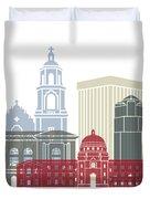 Tucson Skyline Poster Duvet Cover